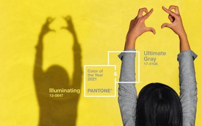 Pantone desvela el color del año 2021: Ultimate Gray + Illuminating