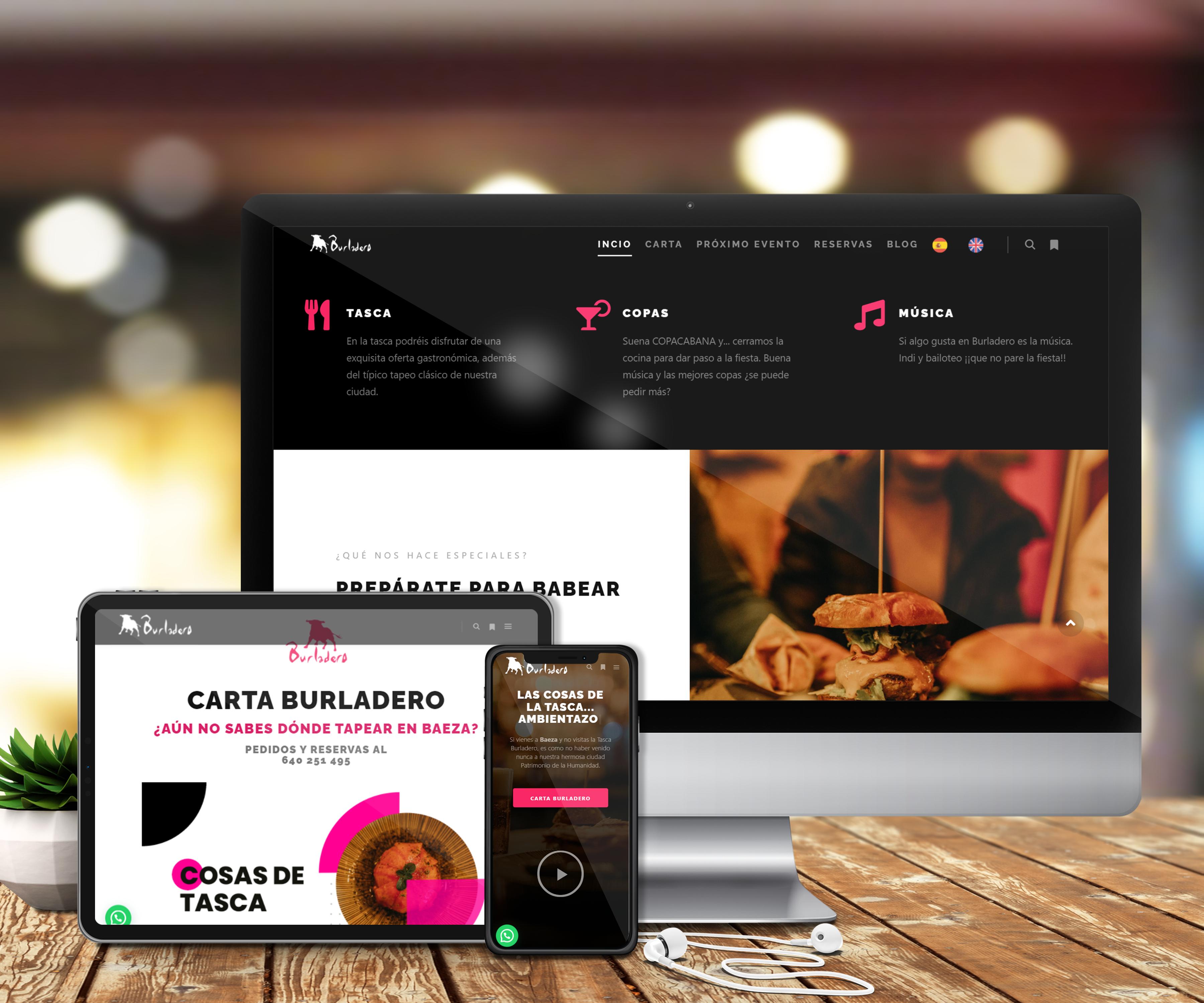 Diseño de páginas webs de hostelería
