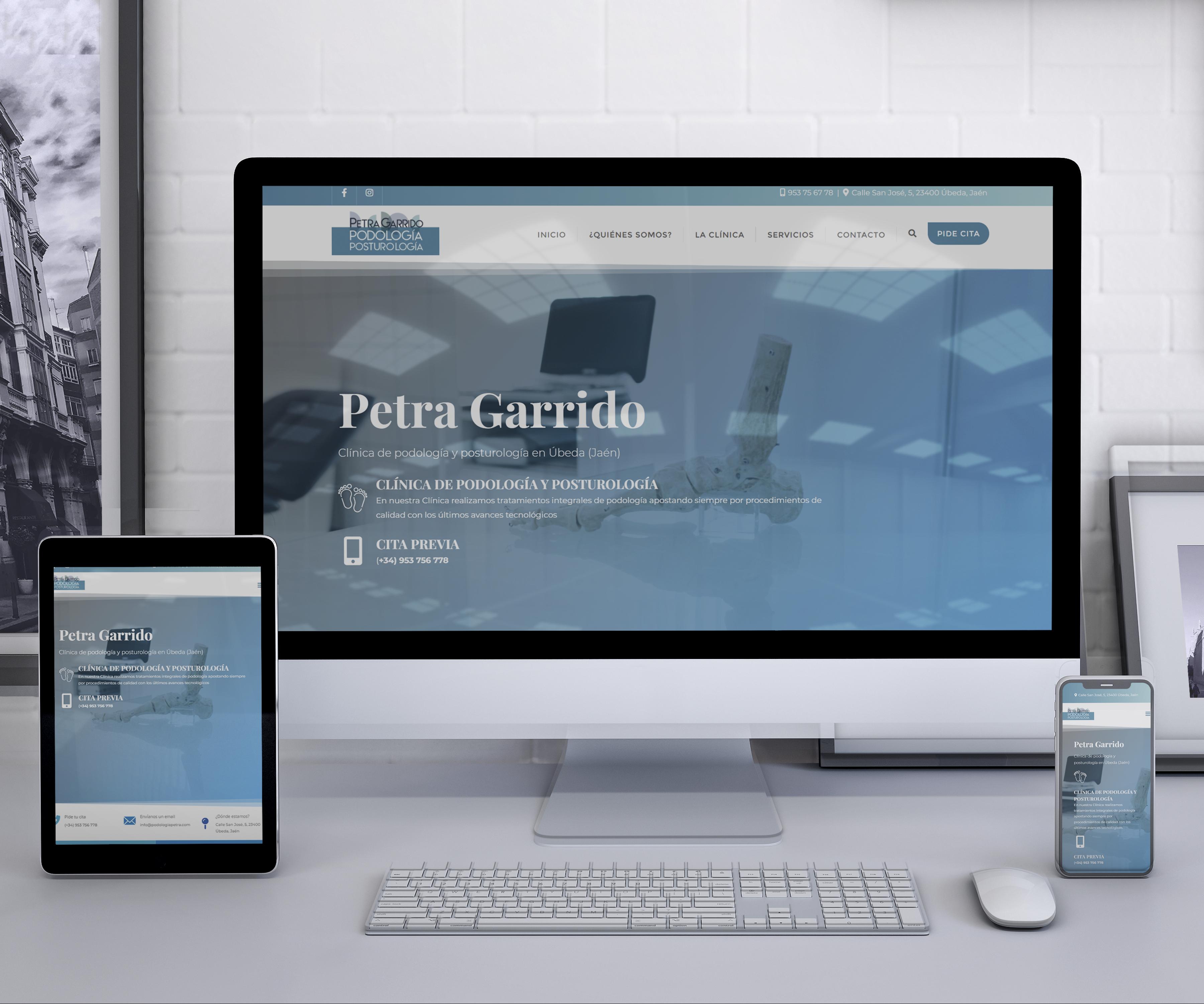 Diseño de webs Petra garrido podología